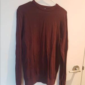 H&M burgundy crew neck sweater